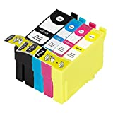 ECS Compatible Ink Cartridge Replacement for Epson WorkForce Pro WF-4720DWF WF-4725DWF WF-4730DTWF WF-4730DWF WF-4740DTWF WF-4740DWF 35XL (BK/C/M/Y, 4-Pack) image