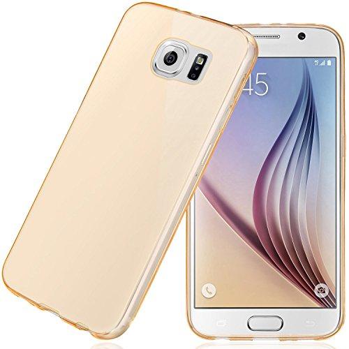 Samsung Galaxy S6 Hülle, Bingsale Ultra Slim TPU Case Samsung Galaxy S6 Silikon Schutzhülle (golden, Samsung Galaxy S6)
