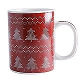 Ldhome Albero Di Natale Tri Color Mug Cup Tazza Da Caffè Tazza Da Tè Tazza Colazione Spoon Gift Box Set 300Ml Gules