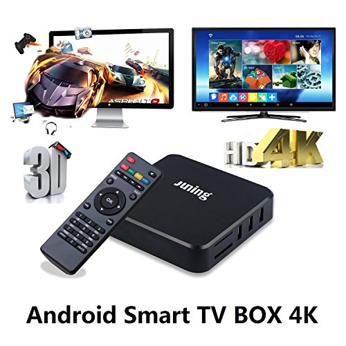 Juning Smart Android TV Box, S805 Quad Core CPU 1GB+8GB 2GHz Ultra HD Wifi TV Box Support 4K * 2K Zum Genießen Sie High-Definition-Internet World
