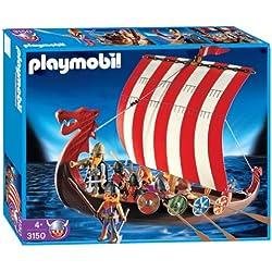Playmobil (3150) - Drakkar con 8 guerreros vikingos