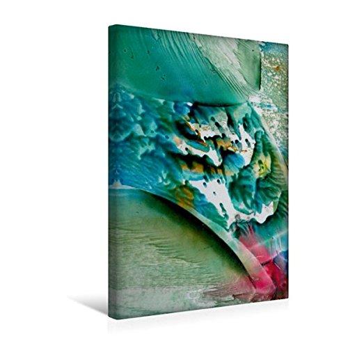 Premium Textil-Leinwand 30 cm x 45 cm hoch, Farben - Wasser - Spiel | Wandbild, Bild auf Keilrahmen,...