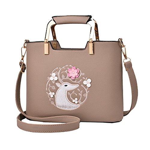 Yy.f Neue Tragbare Diagonale Handtaschen Damen-Schultertaschen Handtaschen Geldbörsen Anzug Taschen. Multicolor Brown