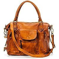 Ira del Valle, Borsa Donna, In Vera Pelle, Vintage, Modello Large Miami Streets Bag, Made In Italy