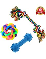 PetVogue Training Toy Set with Ball Ropes and Squeaky for S