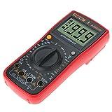 UKCOCO Multimetro digitale, alta precisione Ampere Tester di tensione senza contatto con tester di tensione senza contatto misura di temperatura con clip a coccodrillo (batteria non inclusa)