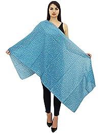 45ea39205222 Phagun Coton Voile Long Foulard Femme Floral Imprime Sarong Etole  Dupatta-28x72 Pouces