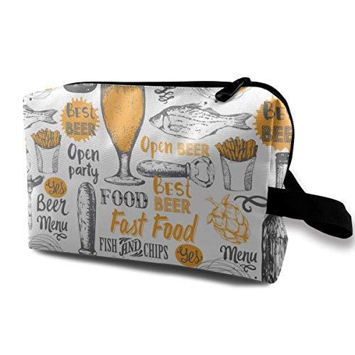 2665ca4da05b Enjoy Beer Magic Makeup Bag Lazy Cosmetic Bag Portanle Travel Handbag