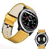 DUABOBAO Smart Watch Für Männer Und Frauen, HRV Bericht Blutdruck Herzfrequenz Test, EKG, EKG EKG + PPG Sport Wasserdicht Armband,Yellow