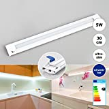 LED Schrankbeleuchtung Lichtleiste Unterbauleuchte Küche warmweiß 30cm 5W schwenkbar Küchenlampe Unterbau Schrankleuchte Schranklampe inkl.Schalter+Netzteil Xtend CL Brilliance