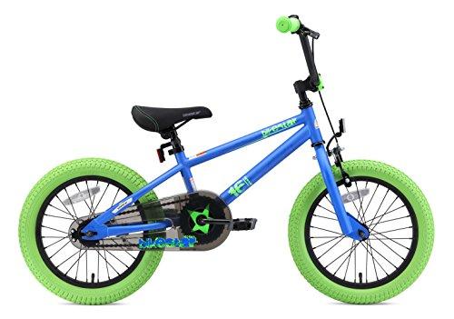 BIKESTAR Bicicletta Bambini 4-5 Anni da 16 Pollici ★ Bici per Bambino et Bambina BMX con Freno a retropedale et Freno a Mano ★ Blu & Verde - 3