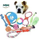 Haustier-Hundespielzeug , Hund Seil Spielzeug, Baumwolle geflochten Knochen Seil / Verknotete / Gebunden / Durable / Chew Spielzeug für Welpen-Hunde Gelegentliche Farbe (10 Stück)