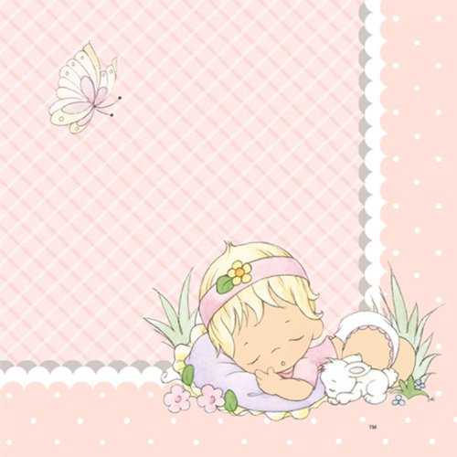 Hallmark 221473 Precious Moments Baby Girl Getr-nke Servietten