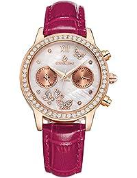 Colegialas watch Relojes de cuarzo resistente al agua Reloj de la manera  del diamante b72c11b594a7