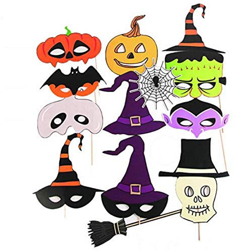 Halloween Masken Party Stadt - mama stadt 26pcs Halloween Photo Booth