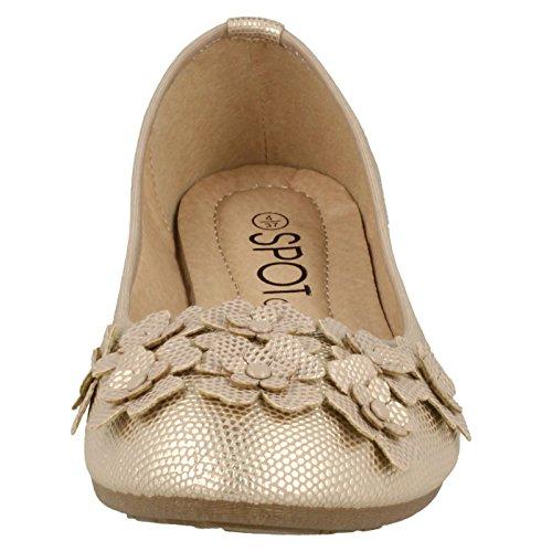 Spot On , Sandales Compensées femme Rose Gold