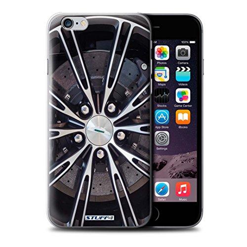 Coque de Stuff4 / Coque pour Apple iPhone 6S / Or/Chrome Design / Jantes Alliage Collection Argent
