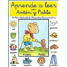 Aprende a leer con Antón y Pablo - Un libro infantil con pictogramas y tipografía escolar.