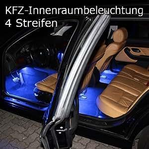 4er set rgb led kfz fussraumbeleuchtung innenraumbeleuchtung auto. Black Bedroom Furniture Sets. Home Design Ideas