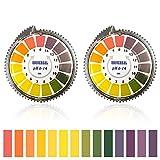 Bornfeel pH Indicatore Strisce 2 Rotoli pH Test Strips Cartina Tornasole Gamma Completa 0 - 14 Rotolo di Carta Tornasole per Urine Saliva Alcalina Cura Terreno 5 Metri