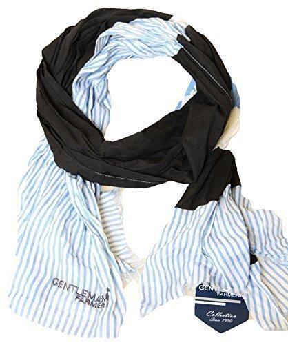 GENTLEMAN FARMER FOULARD echarpe cheche chech bleu 100% coton