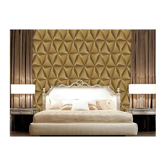 Eurotex Textured PVC coated 3D design wallpaper for walls home decoration (57sqft/Per roll)-231503
