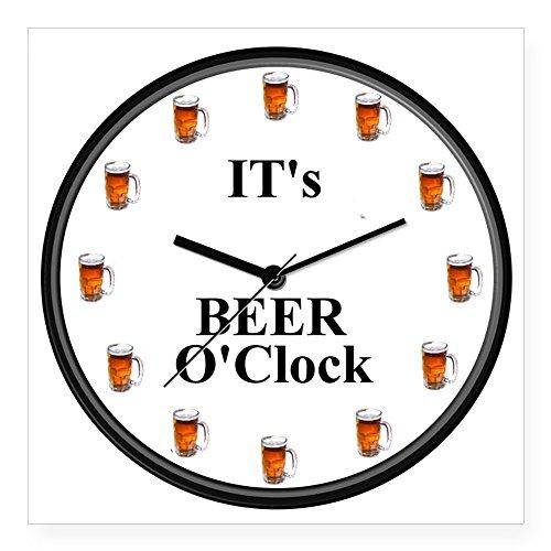CafePress-Seine Bier Uhr quadratisch Aufkleber-quadratisch Bumper Aufkleber Auto Aufkleber, 7,6x 7,6cm (klein) oder 12,7x 12,7cm (groß), weiß, Large - 5x5