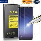 Alfort [2 Pezzi] Pellicola Protettiva Samsung Galaxy S9 Plus, Proteggi Schermo 9H Durezza Ultra-Sottile Ultra Resistente Impermeabile Vetro Temperato per Samsung Galaxy S9 Plus Nessuna Bolla