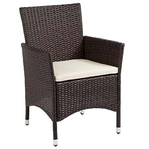 ultranatura polyrattan sessel mit armlehne palma serie 59 x 57 x 85 cm. Black Bedroom Furniture Sets. Home Design Ideas