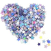 Star Confetti Holographic Stars Glitter Confetti for Christmas Decoration, Wedding Party Supplies and Nail Art, Multicolor, 1/ 4 Inch