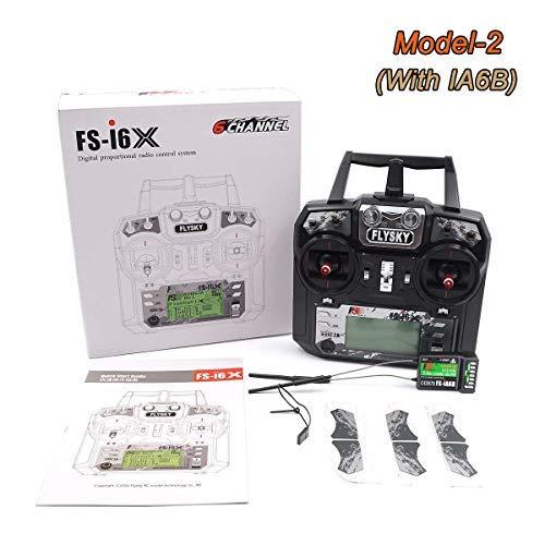 Transmisor Flysky FS-i6X 10CH 2 4GHz AFHDS RC con receptor FS-iA6B