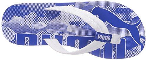 Puma Epic Flip Camo Unisex-Erwachsene Zehentrenner Weiß (white-high risk red 01)