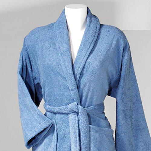 Sancarlos - Albornoz liso amir azul - algodón 100% - confección smocking -