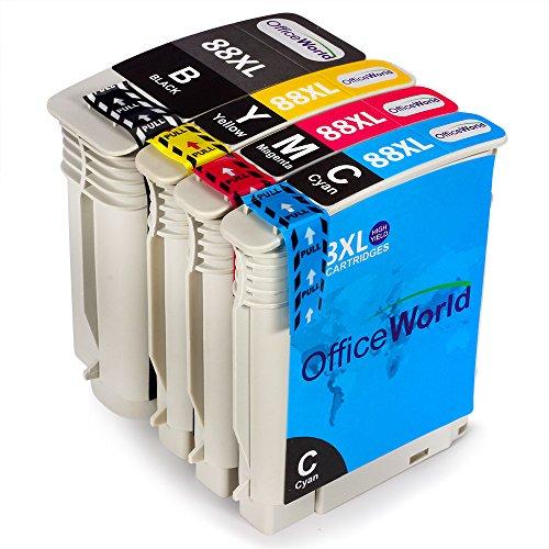 OfficeWorld Kompatible Patronen Ersatz für HP 88XL Tintenpatronen Hohe Kapazität Kompatibel für...