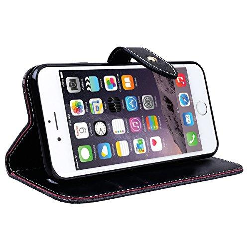 WE LOVE CASE iPhone 6 Plus / 6s Plus Cover Coccodrillo Retro Style iPhone 6 Plus / 6s Plus 5,5 Custodia Blu Copertura Pelle Flip PU Leather Design Internamente Silicone TPU Cassa Caso Bumper Protetti gray