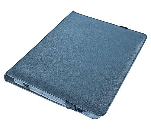 Trust Custodia Universale, Modello Verso per Tablet da 7-8 Pollici con Supporto Integrato, Nero