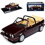 alles-meine.de GmbH Volkwagen Golf I Cabrio Dunkel Rot Metallic 1979-1993 1/18 Norev Modell Auto mit individiuellem Wunschkennzeichen