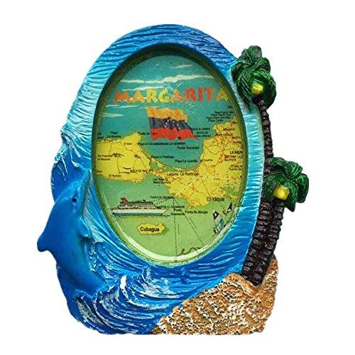Margarita Island Venezuela Kunstharz 3D starker Kühlschrank Magnet Souvenir Tourist Geschenk Chinesische Magnet Hand Made Craft Creative Home und Küche Dekoration Magnet Sticker