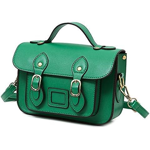 Borsa Messenger/ Cambridge/Moda borsa a tracolla retro/ borsa Messenger (Pelle Cambridge Cartella)