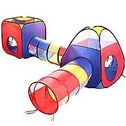 La tenda da avventura EocuSun è dotata di 2 tunnel e 2 case giochi, che creano una ricca area giochi. La tenda pop up è un regalo ideale per tutti i bambini.   Caratteristiche:   ①Pop up tende per il gioco istantaneo  ②Facile da piegare e co...