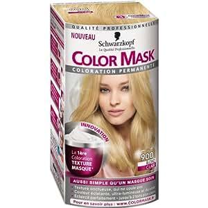 Schwarzkopf - Color Mask - Coloration Permanente pour Cheveux - Blond Clair 900