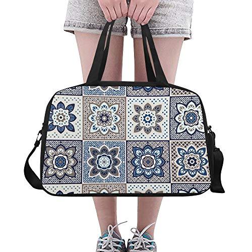 Reopx Dutch Daisy Flower Große Yoga Gym Totes Fitness Handtaschen Reisetaschen Schultergurt Schuhtasche Für Sportgepäck Für Mädchen Männer Frauen Im Freien