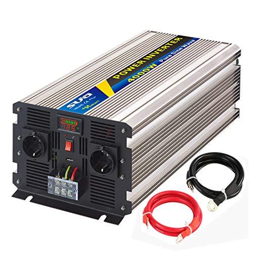 SUG 4000W DC 12V auf AC 220V 230V Wechselrichter Reiner Sinus Spitzenwert 8000W Spannungswandler Power Inverter Pure Sine Wave