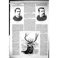 Stampa Antica di Sport del Porto Drammatico 1883 di Milroy Cowie Faulkner Leigh di Notizie…