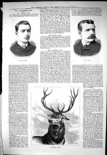 Stampa Antica di Sport del Porto Drammatico 1883 di Milroy Cowie Faulkner Leigh di Notizie...
