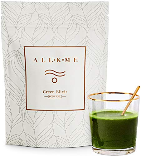 Super greens and Superfood Powder / Vegan protein powders / Detox drink with: green tea, pea protein, psyllium husk, spirulina chlorella, aloe vera, turmeric, wheatgrass, probiotics for adults