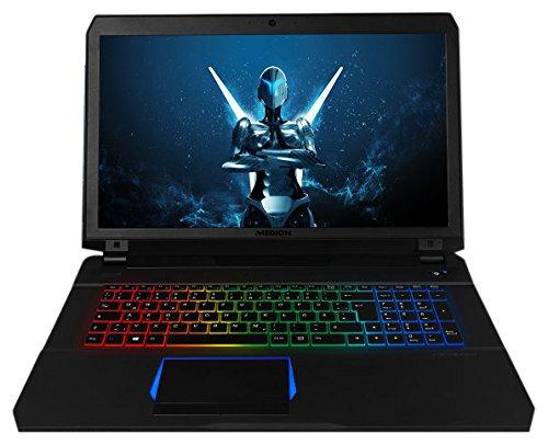 Medion Erazer X7851 MD 60602 43,9 cm (17,3 Zoll mattes Full HD Display) Gaming Notebook (Intel Core i7-7700HQ, 16GB DDR4 RAM, 1TB HDD, 256GB SSD, Nvidia GeForce GTX 1060 6GB GDDR5, Win 10 Home) schwarz
