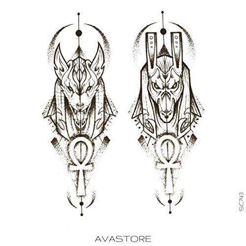 AVASTORE Temporäre Tattoo, Anubis-Tattoo, Ephemä, Anubis -