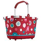 Reisenthel Tragekorb, Einkaufskorb, Picknickkorb–Farbe, Dekor zur Auswahl, - funky dots 2 - rot