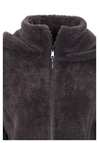 SUBLEVEL Damen Teddy-Fleece Mantel | Kuscheliger Langer Fleecemantel mit hohem Kragen Brown